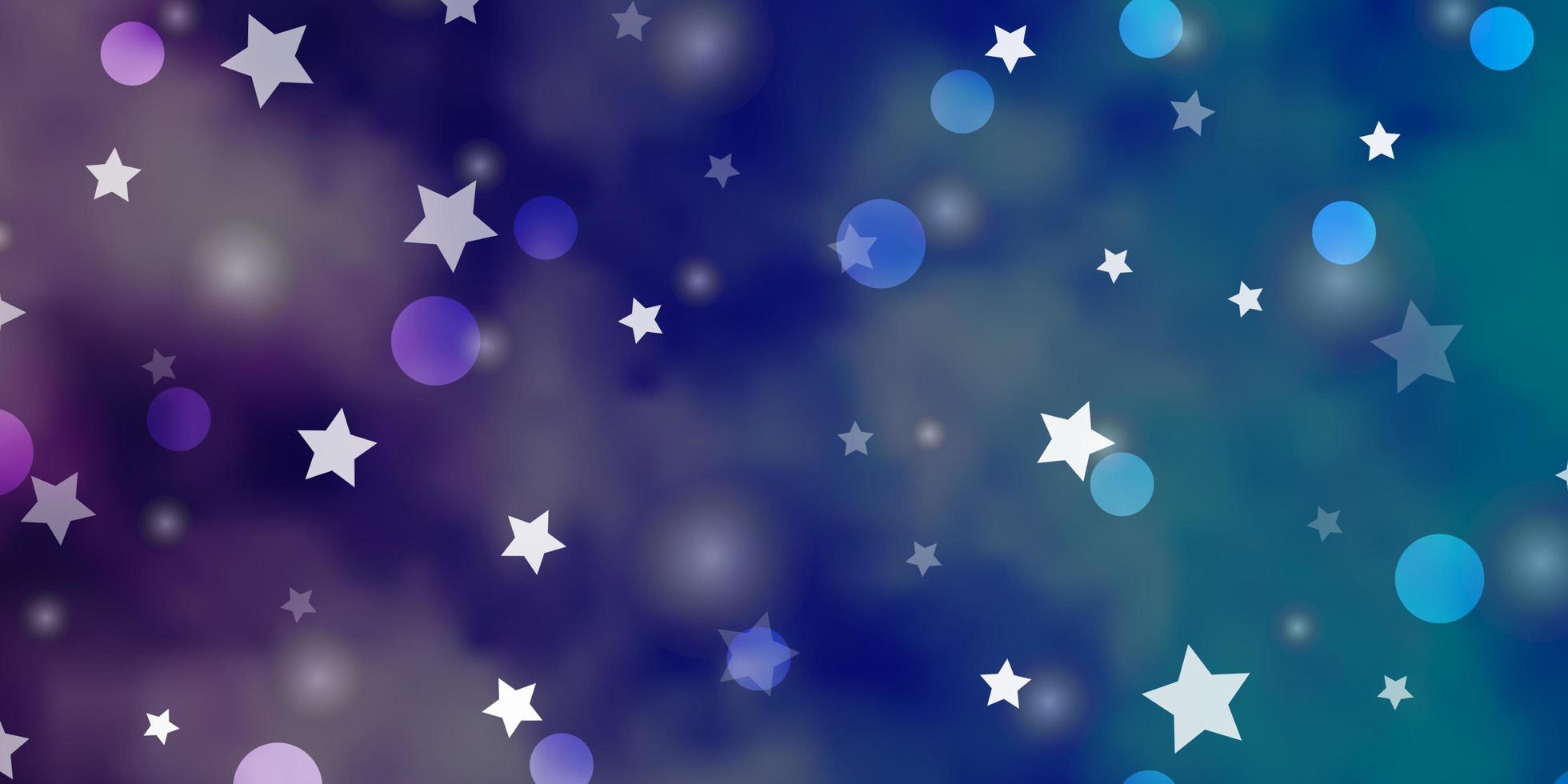 fundo vector rosa claro, azul com círculos, estrelas.