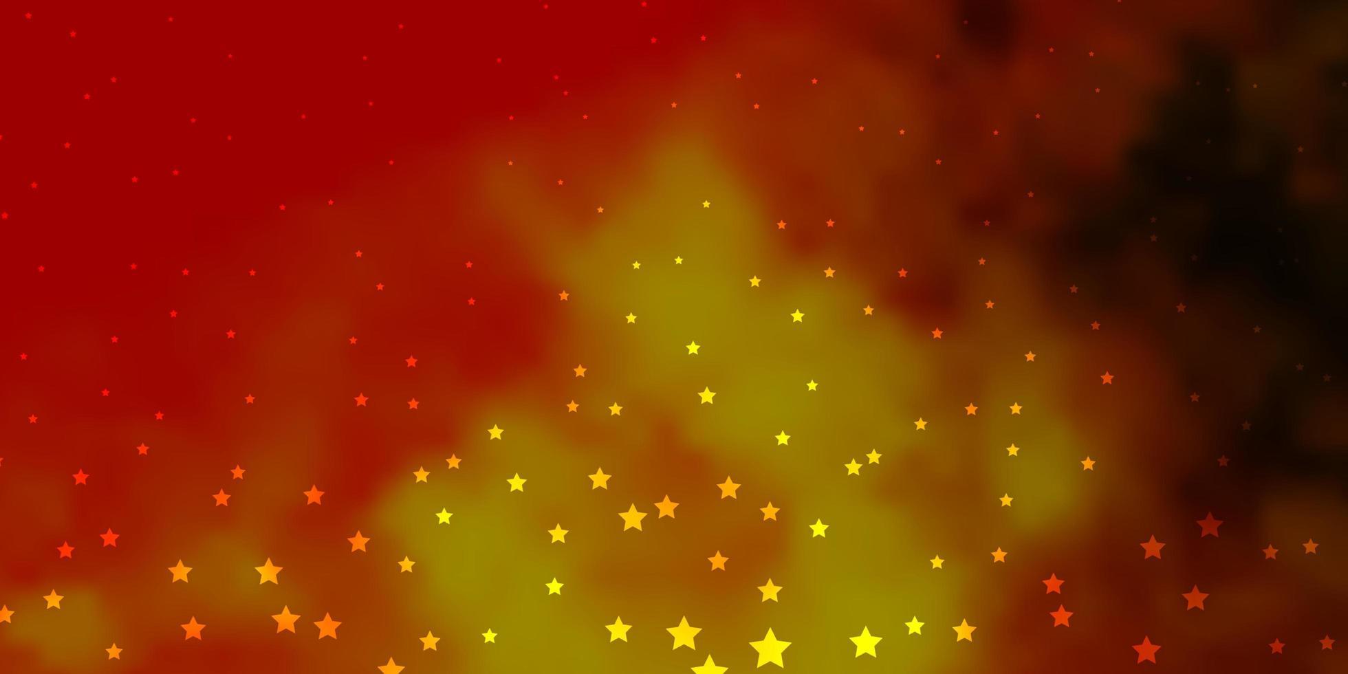fundo vector vermelho escuro e amarelo com estrelas coloridas.