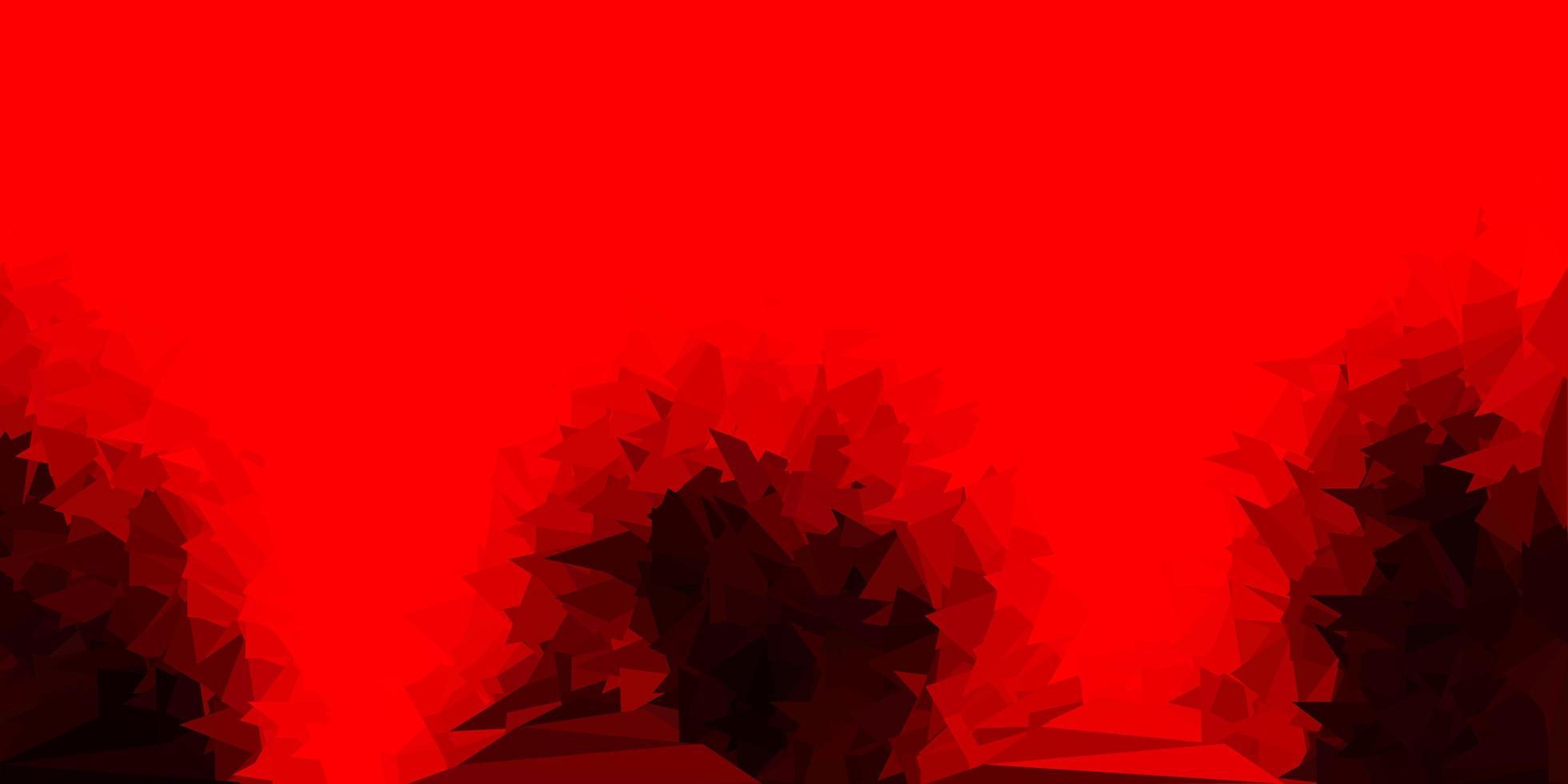 cenário de triângulo abstrato de vetor vermelho escuro.