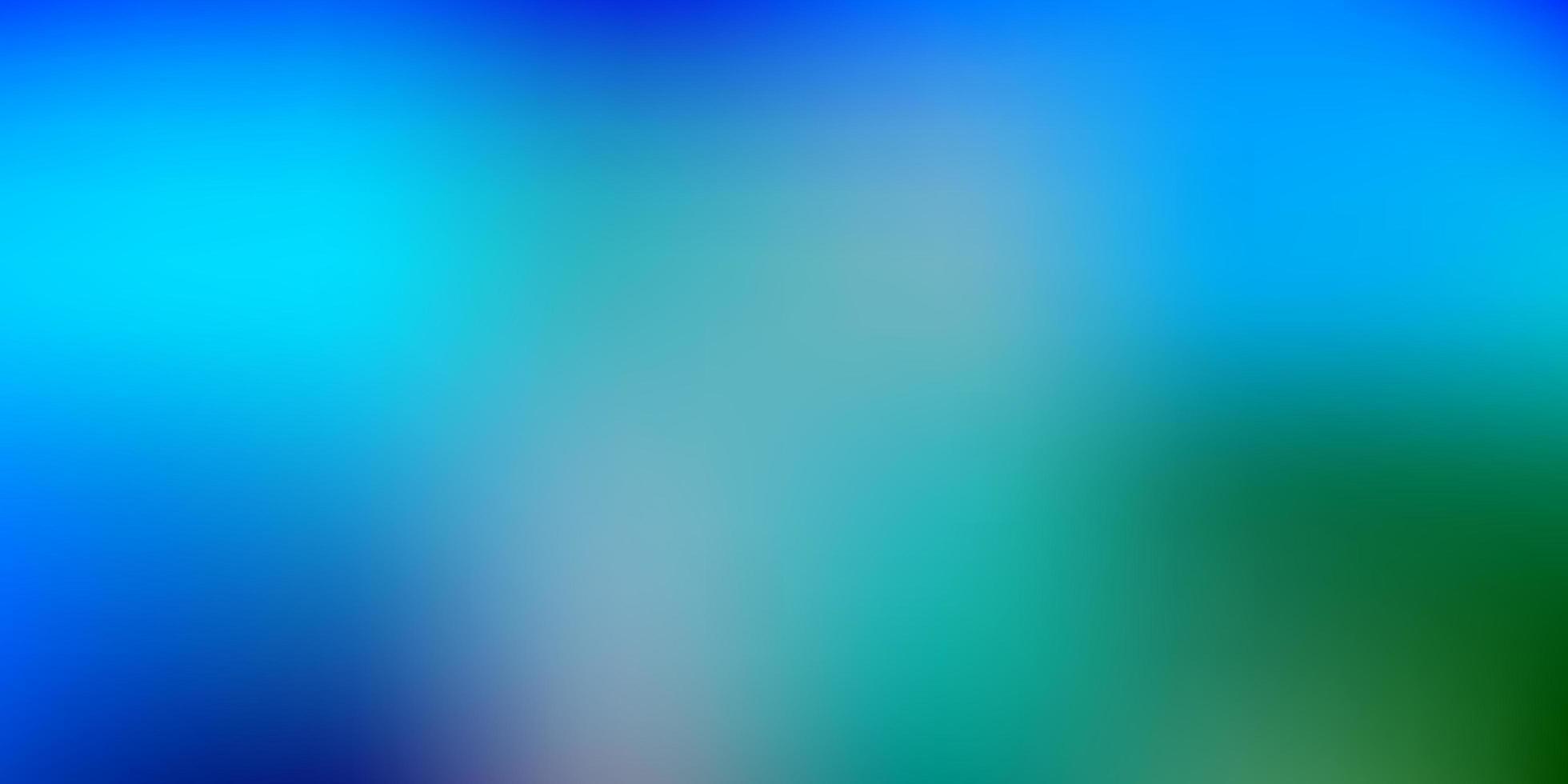 fundo de desfoque de vetor azul e verde claro.