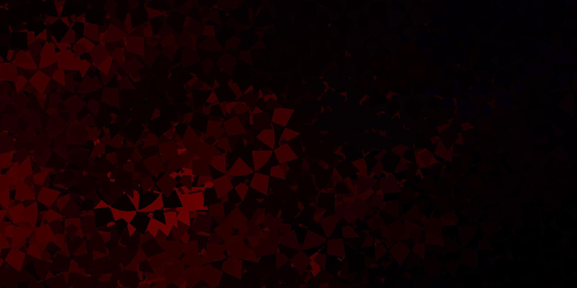 padrão de vetor vermelho escuro com formas poligonais.