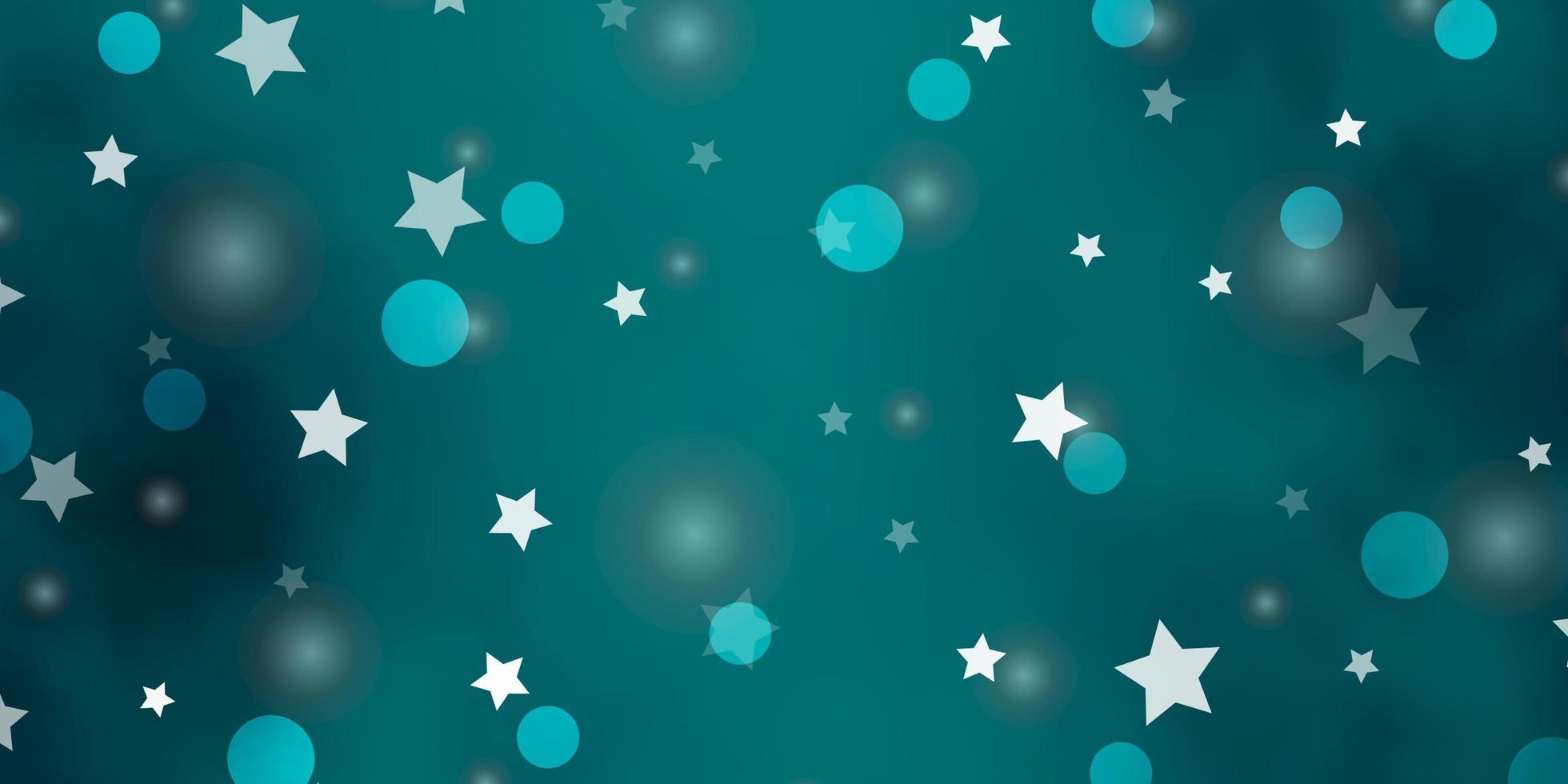 modelo de vetor verde claro com círculos, estrelas.