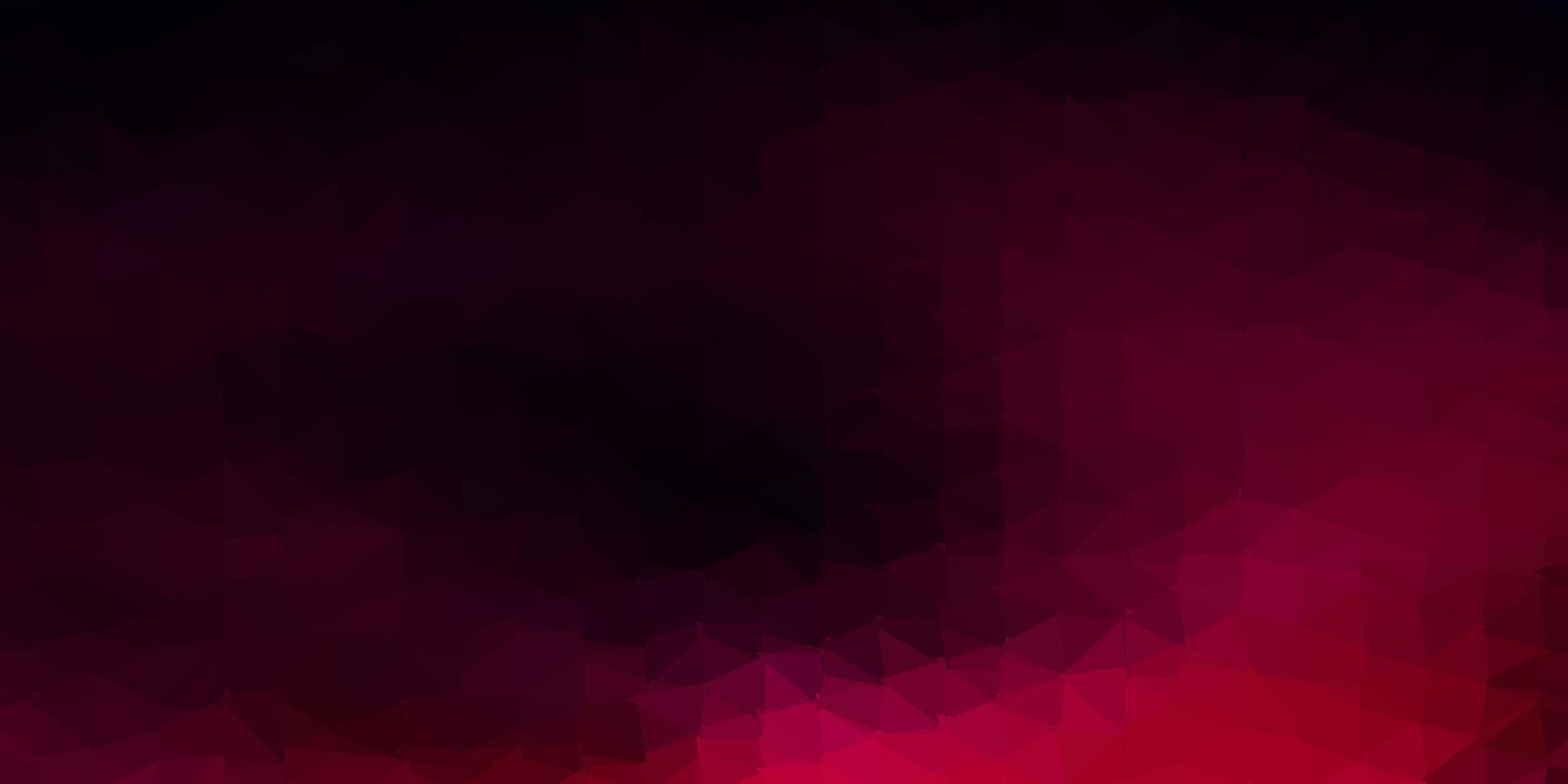 fundo poligonal do vetor rosa escuro.