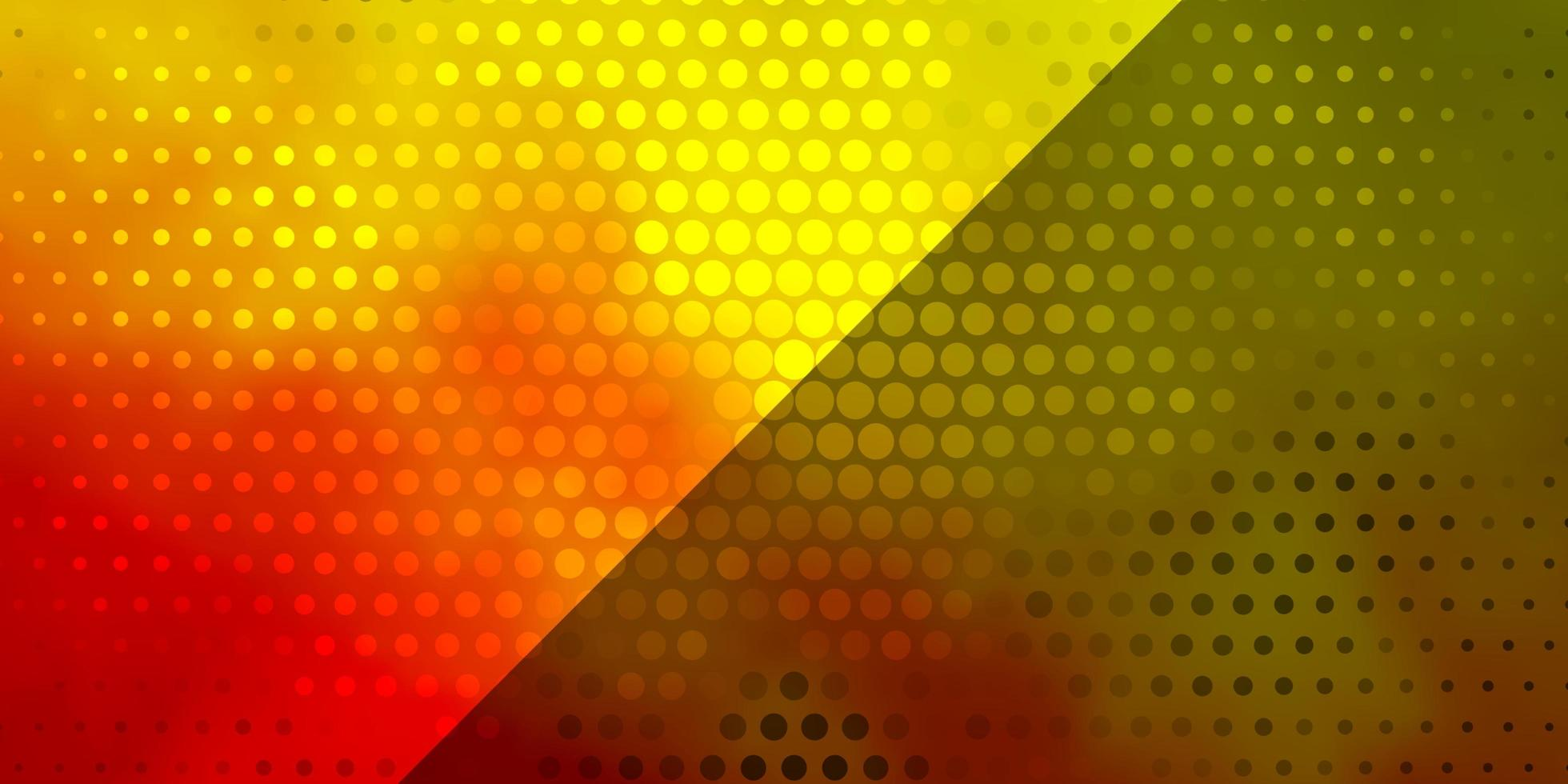 textura de vetor verde e vermelho claro com círculos.