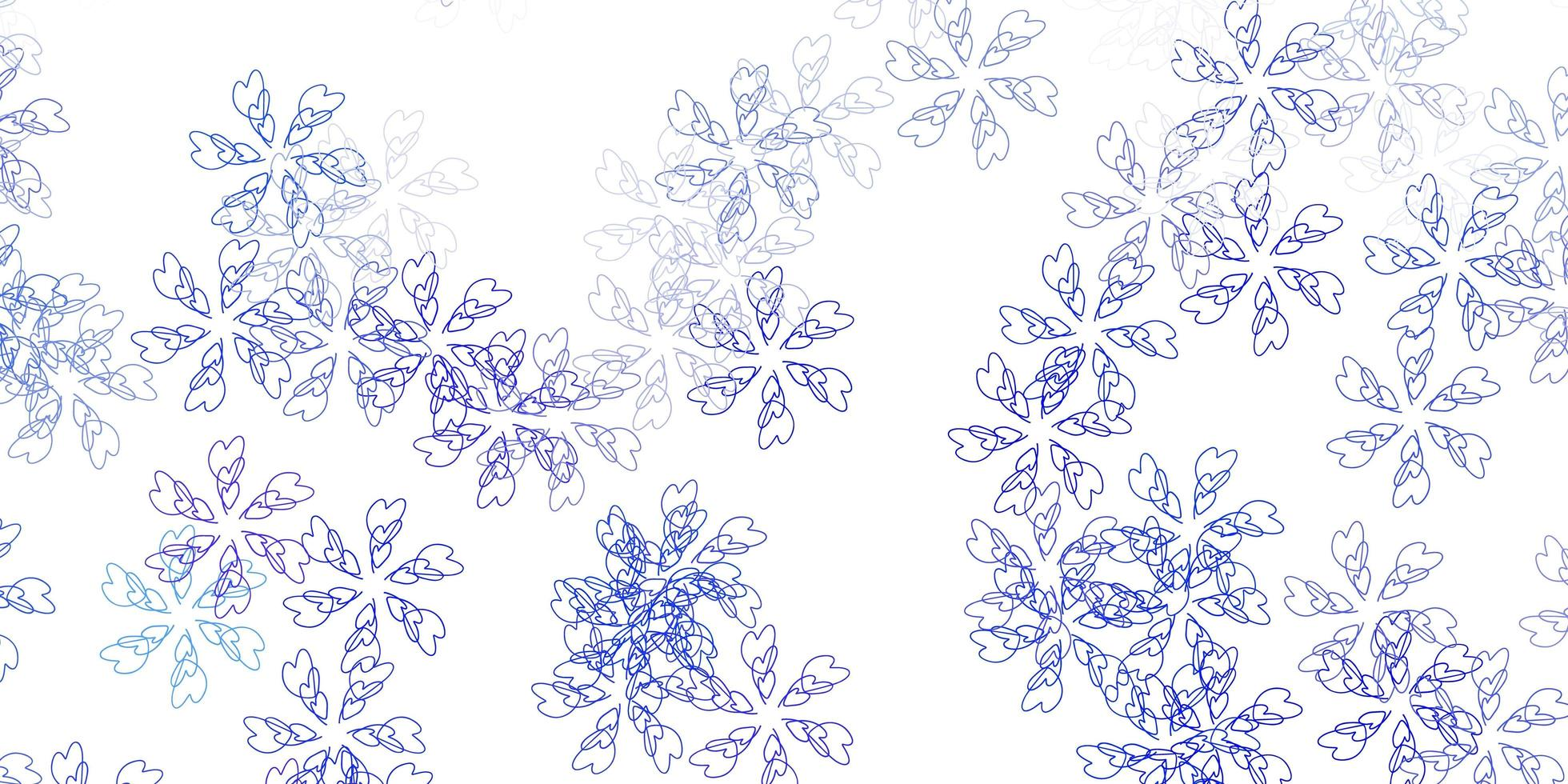 textura abstrata do vetor azul claro com folhas.