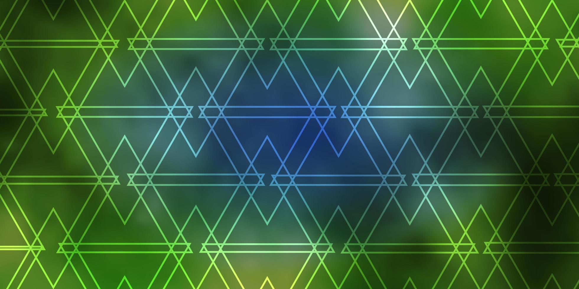 padrão de vetor azul e amarelo claro com estilo poligonal.
