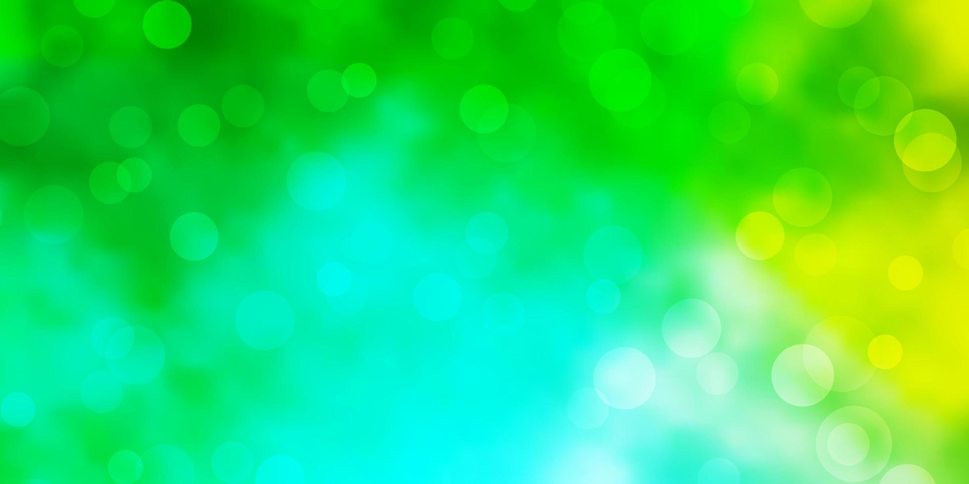 fundo azul claro, verde do vetor com círculos.