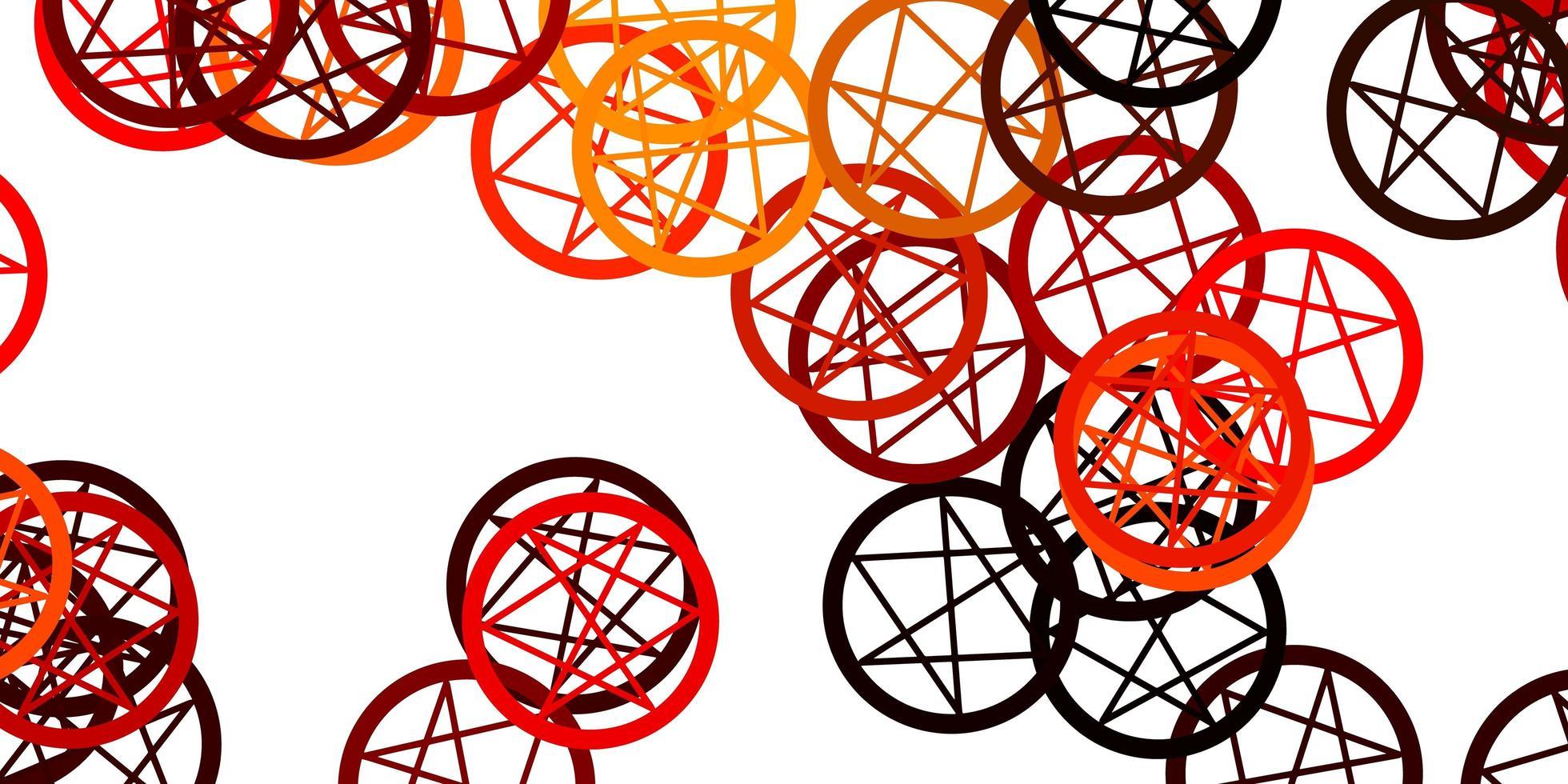 fundo vector laranja claro com símbolos ocultos.