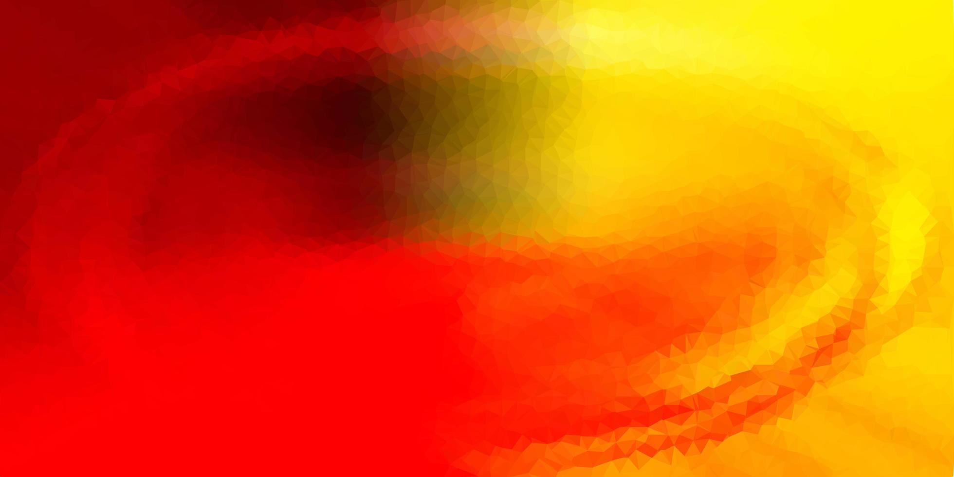 projeto do mosaico do triângulo do vetor vermelho e amarelo claro.