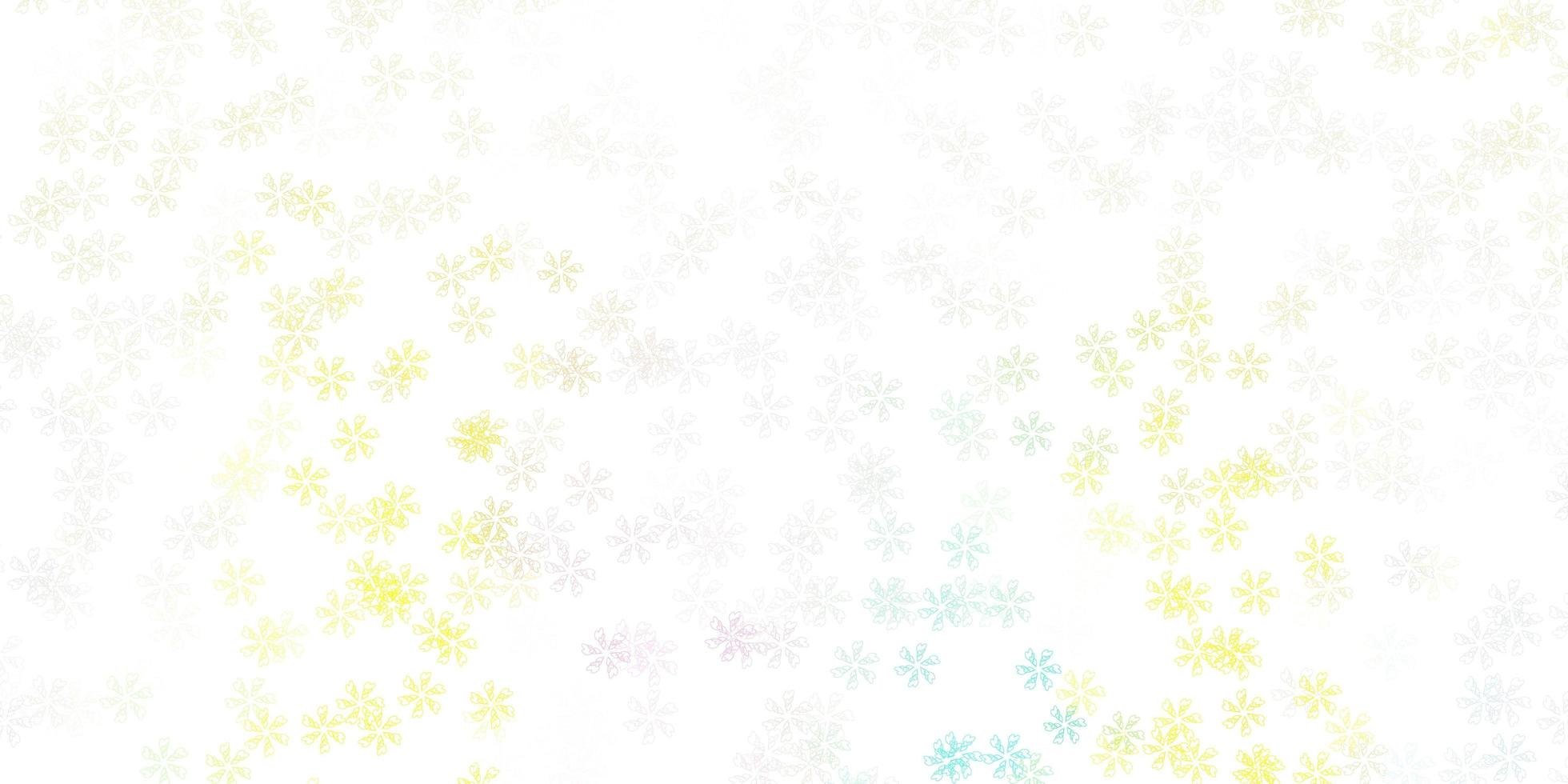 layout abstrato luz multicolor vetor com folhas.