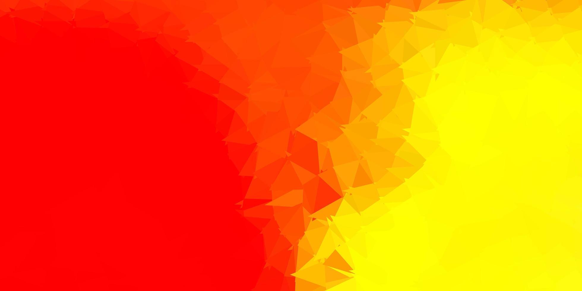 textura do triângulo abstrato do vetor vermelho e amarelo claro.