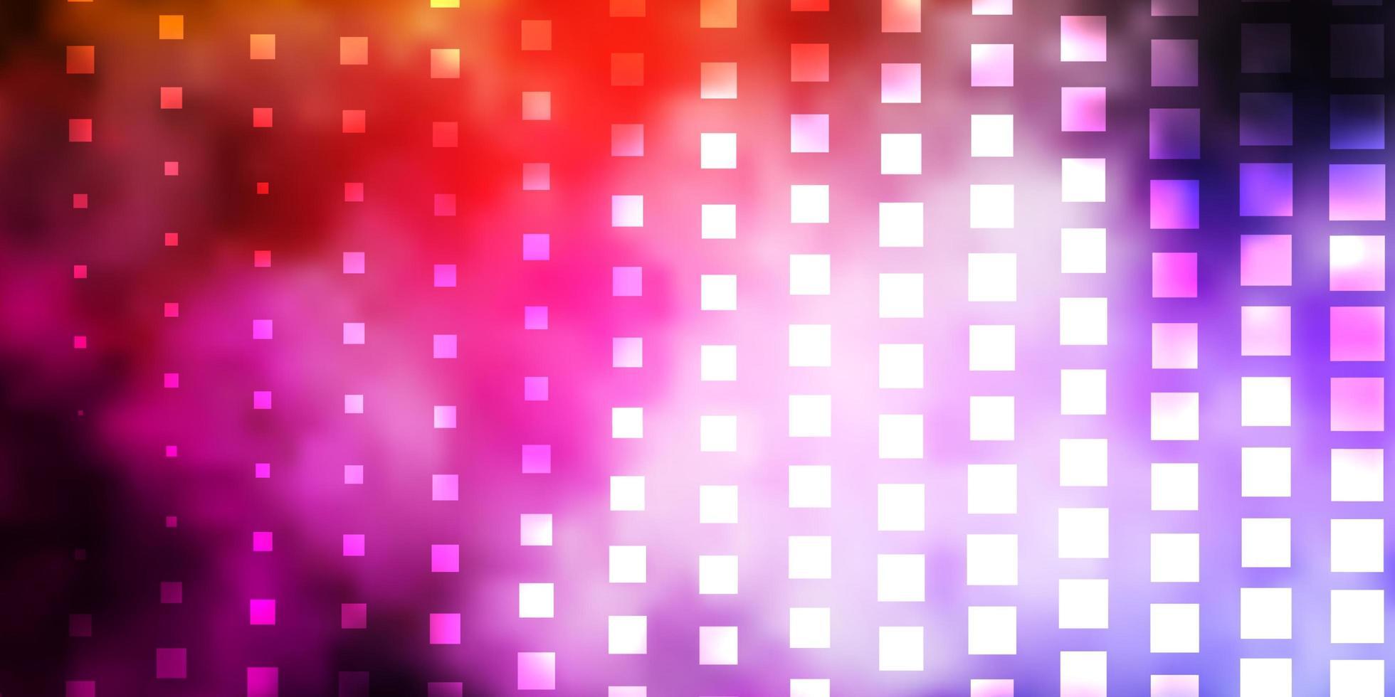 padrão de vetor rosa e amarelo escuro em estilo quadrado.