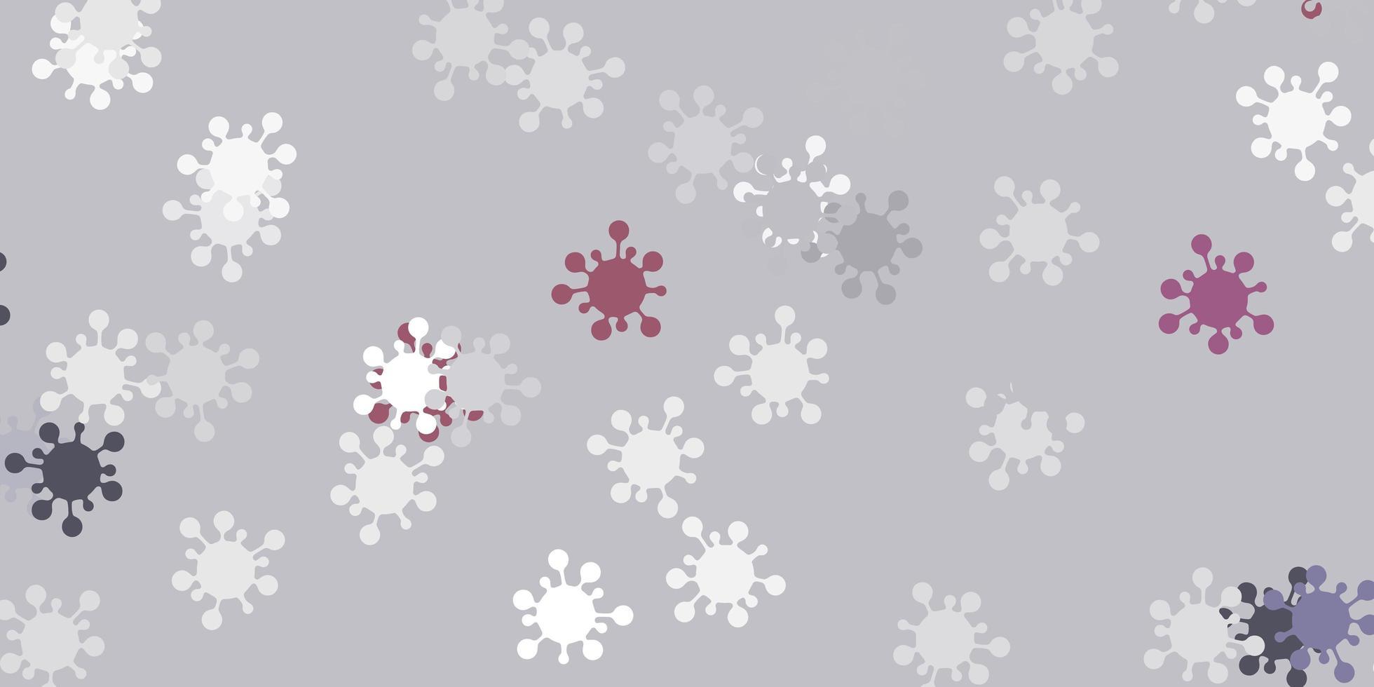 textura vetorial cinza claro com símbolos de doenças vetor