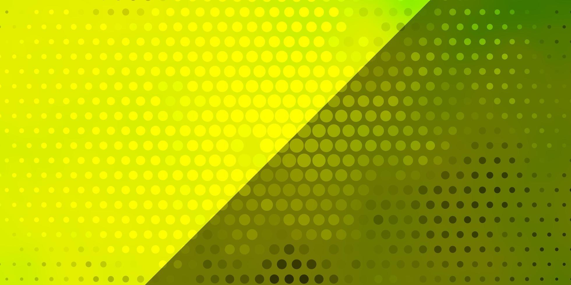 textura de vetor verde e amarelo claro com círculos.