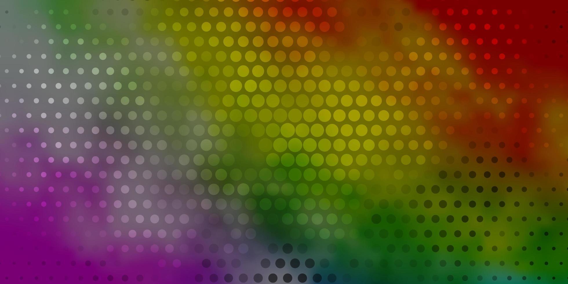 cenário de vetor multicolorido escuro com círculos.