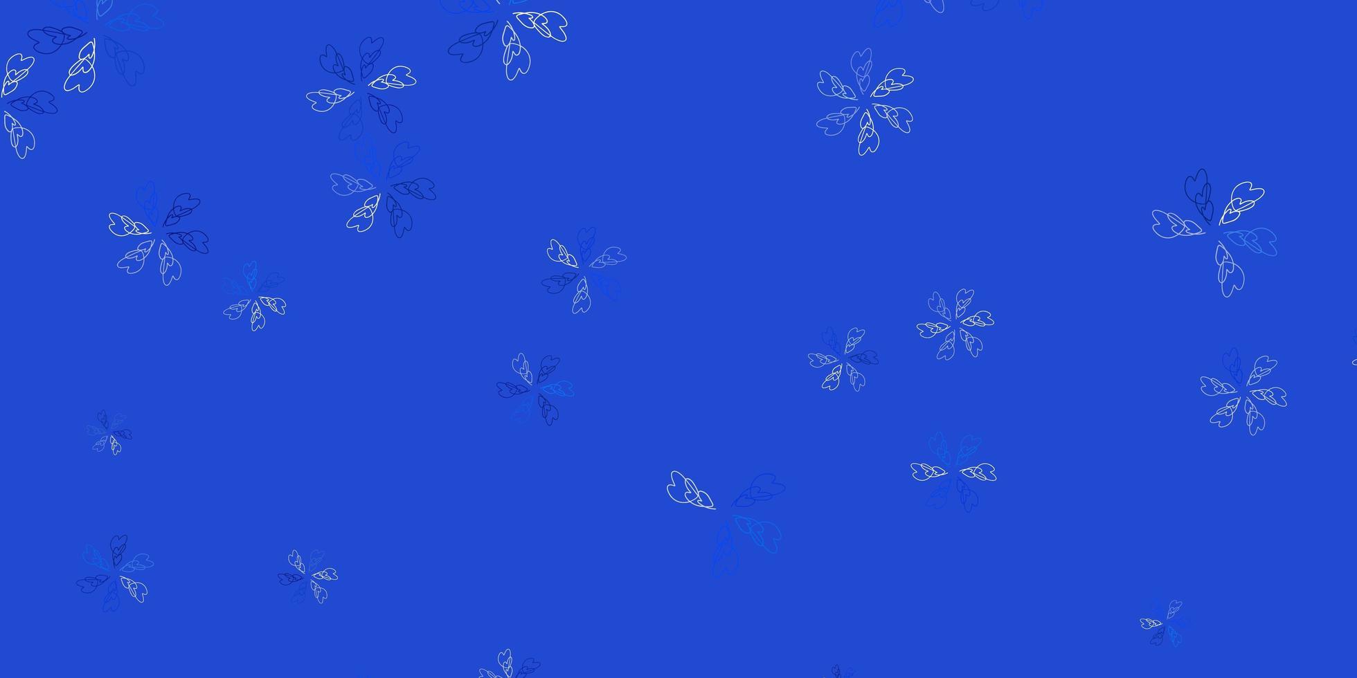 luz azul padrão abstrato do vetor com folhas.