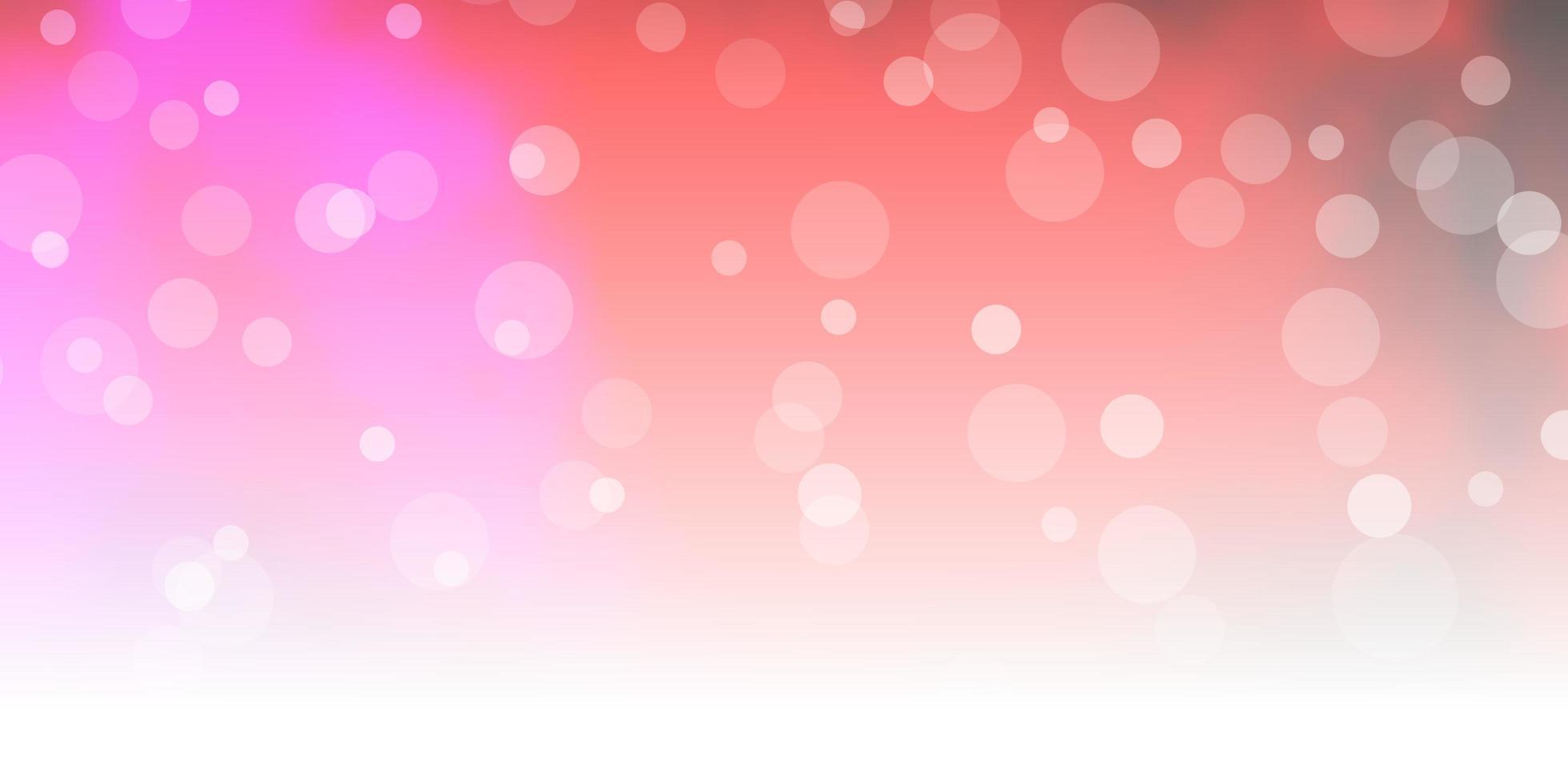 pano de fundo vector rosa e amarelo escuro com círculos.