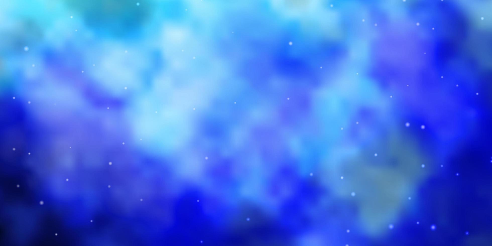 modelo de vetor azul claro com estrelas de néon.