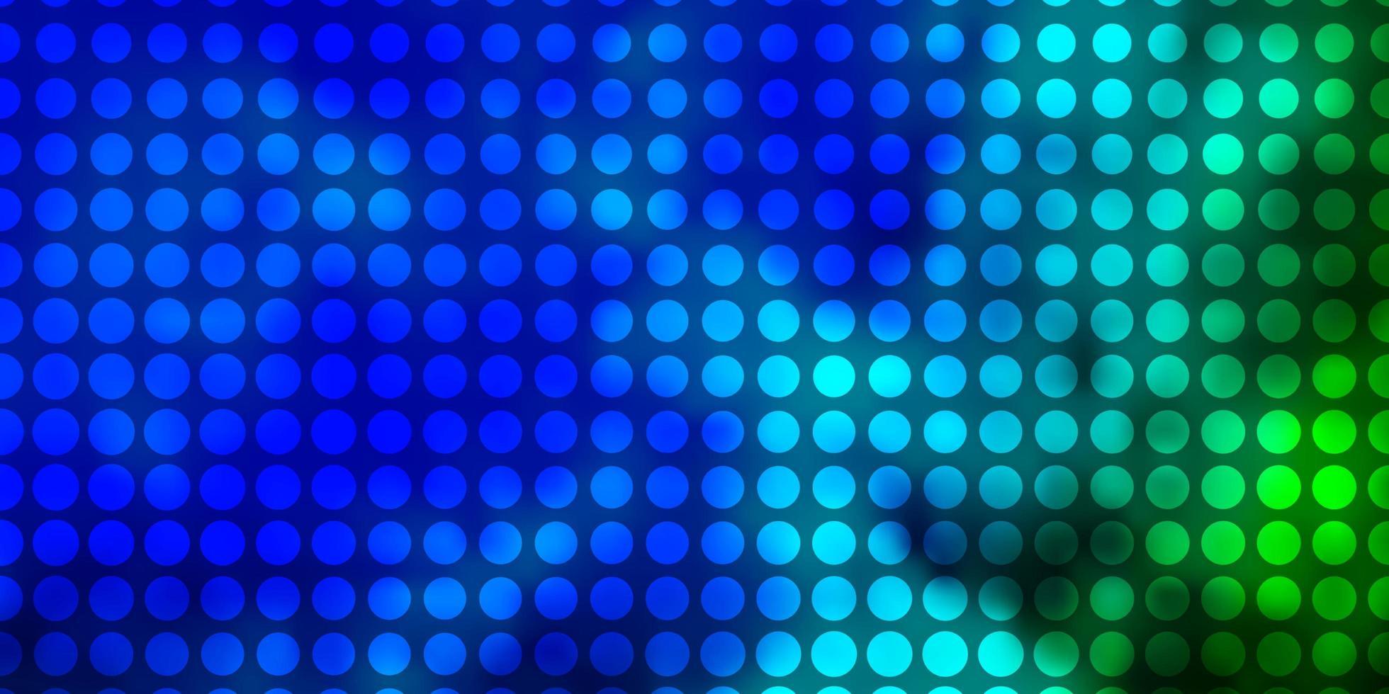 padrão de vetor azul claro e verde com círculos