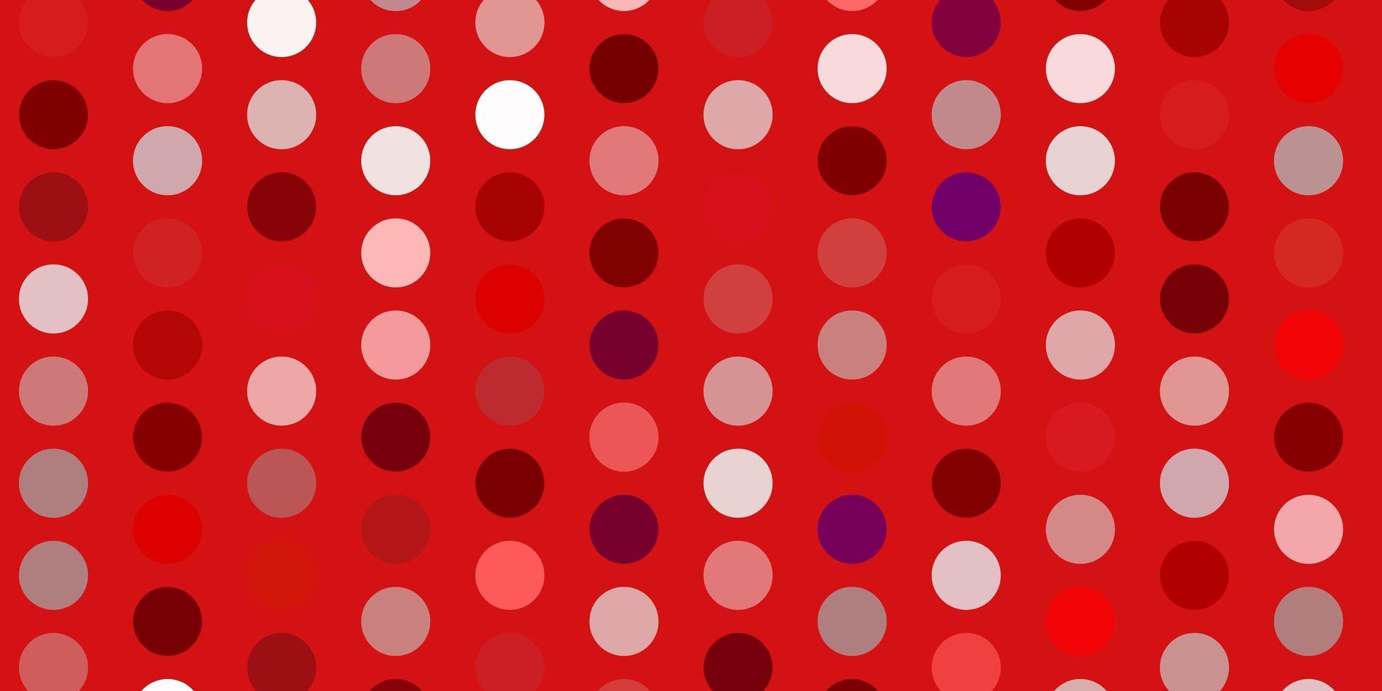 pano de fundo vector rosa, vermelho claro com pontos.