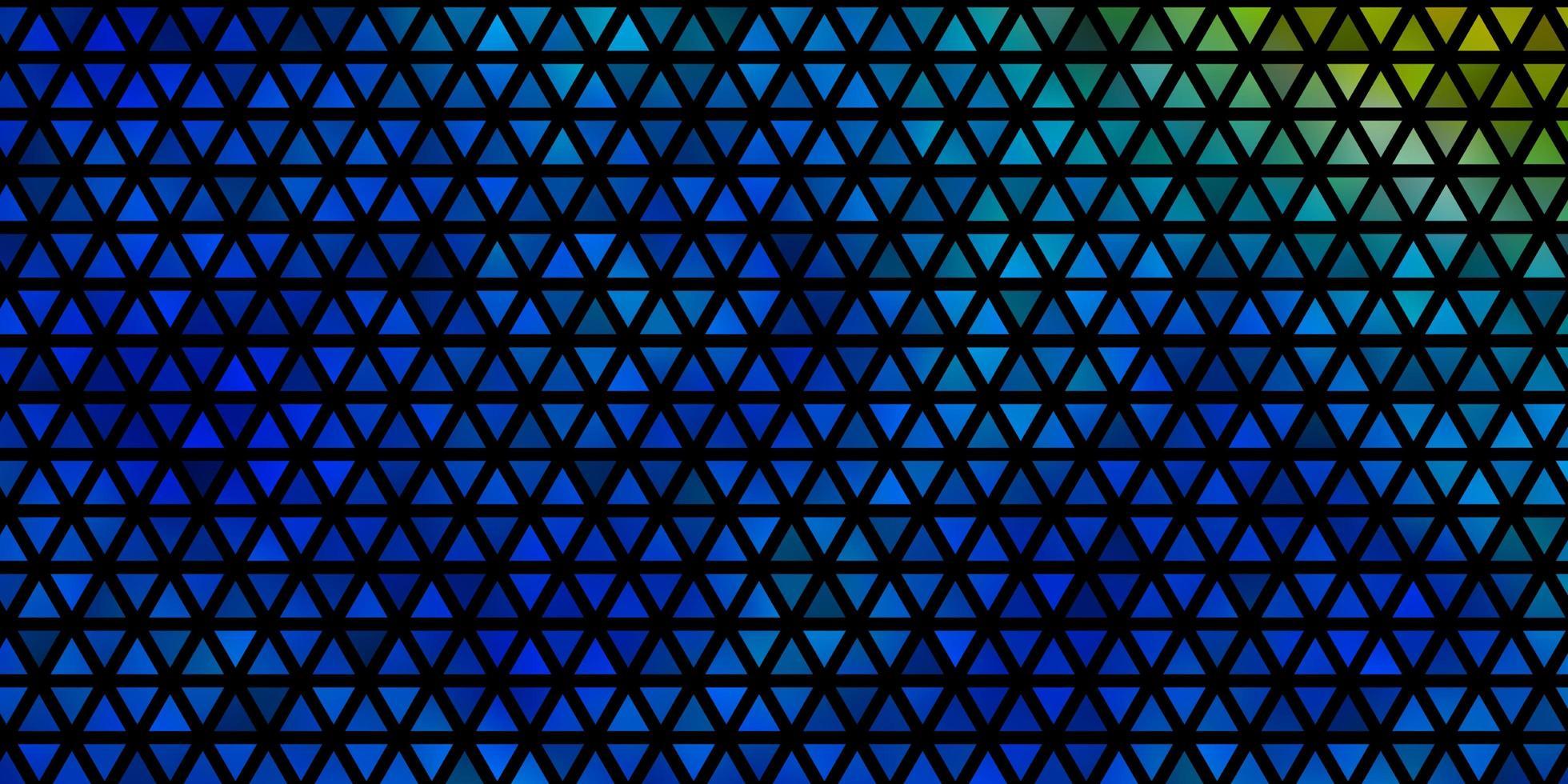 fundo vector azul e amarelo claro com triângulos.