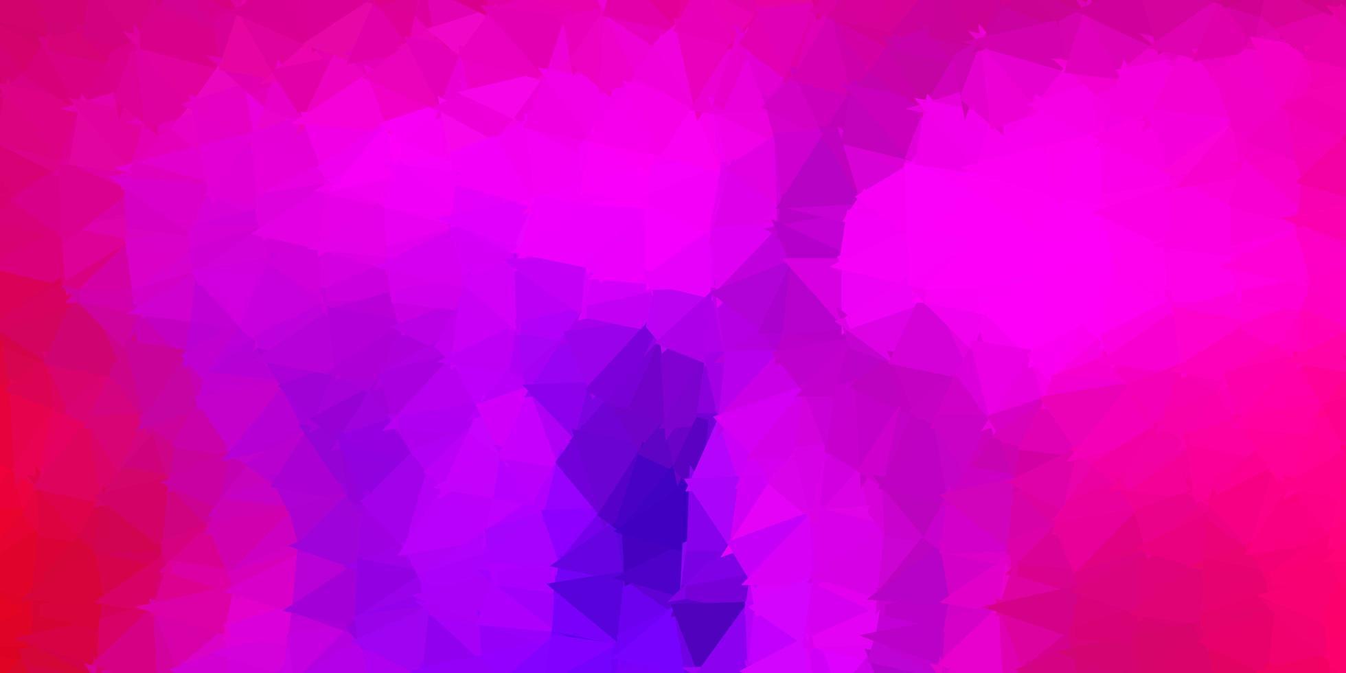 desenho poligonal geométrico de vetor rosa e vermelho escuro.