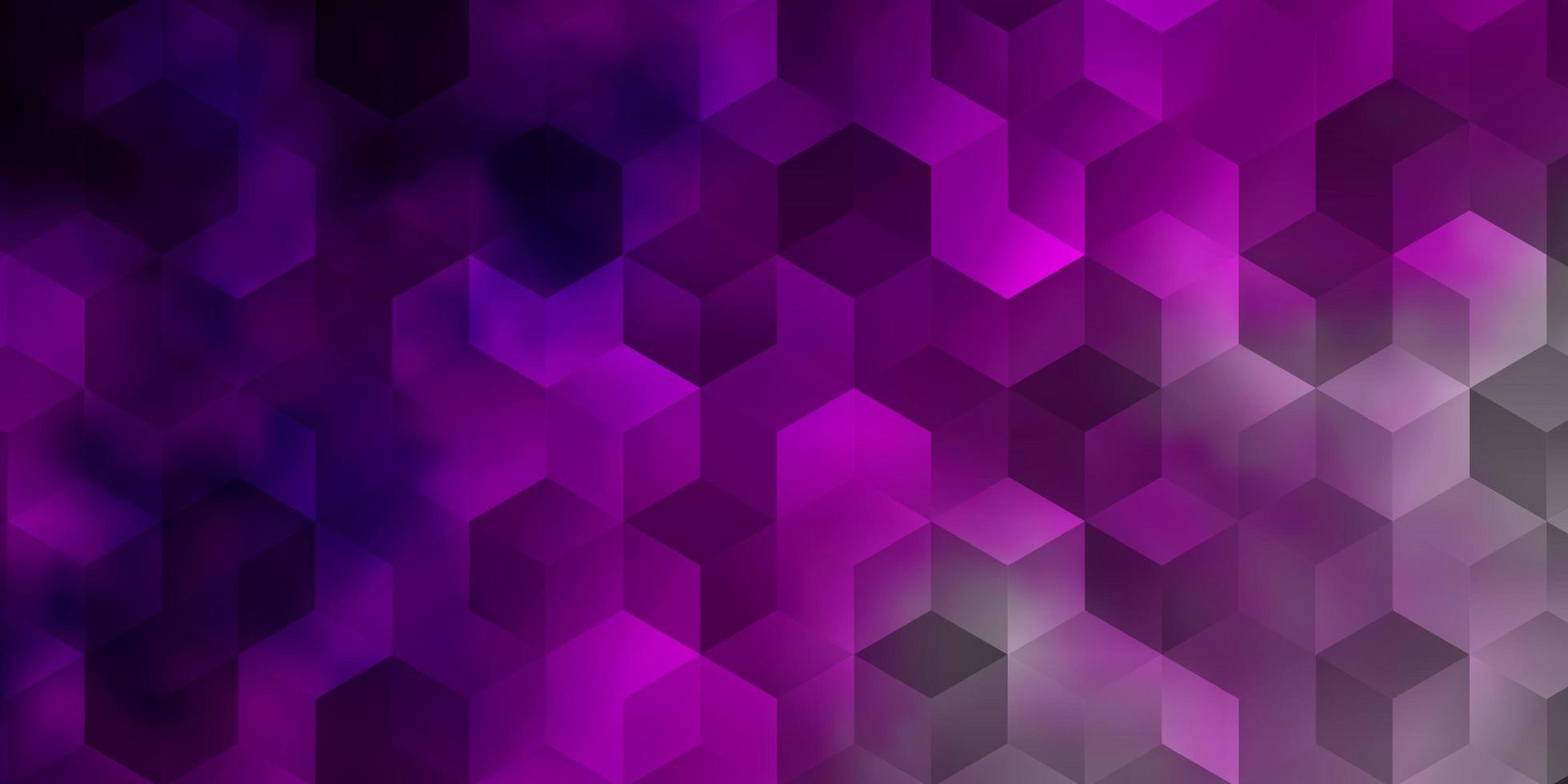 fundo vector rosa claro com conjunto de hexágonos.