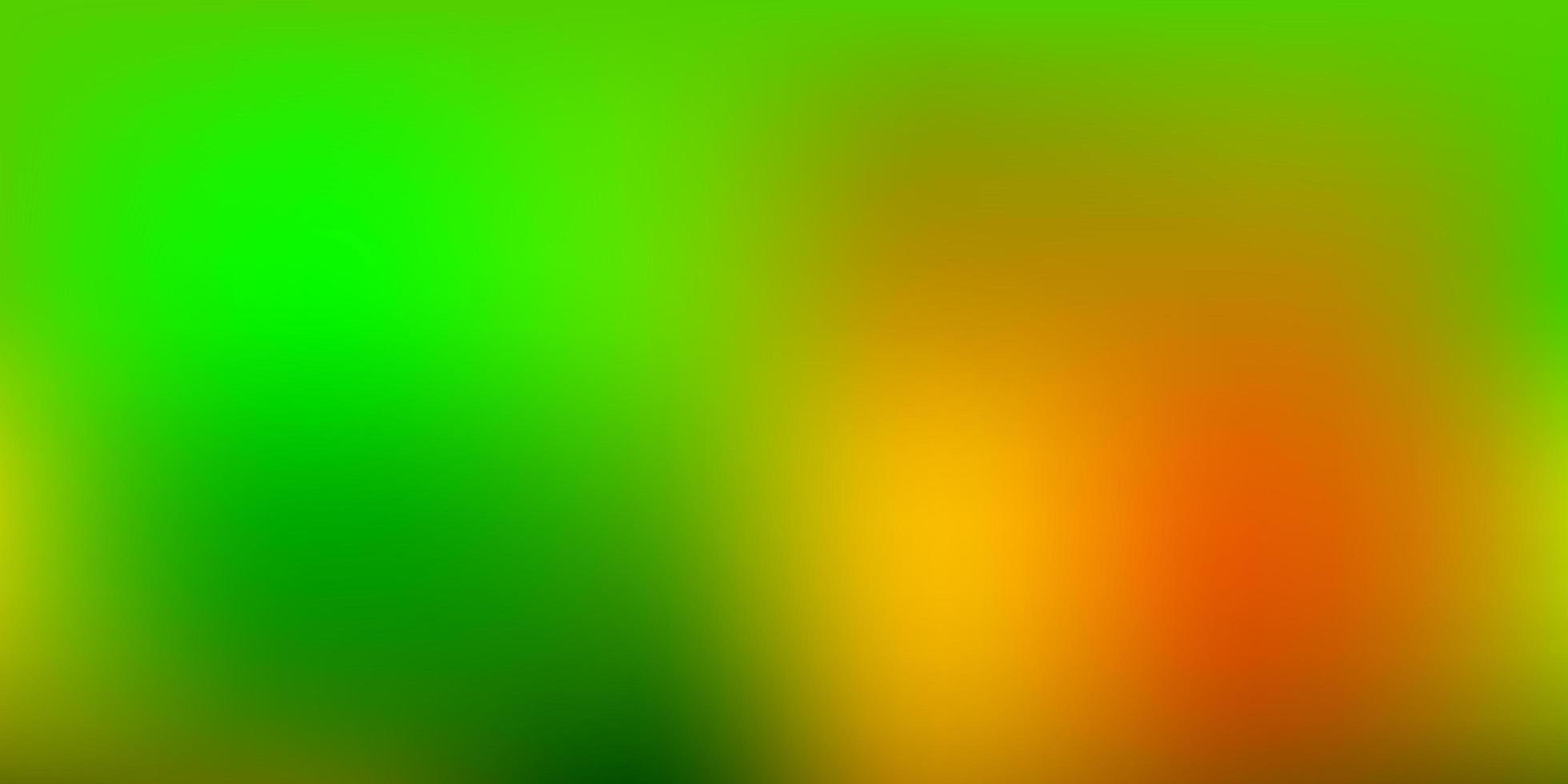 layout de borrão abstrato de vetor verde escuro e amarelo.