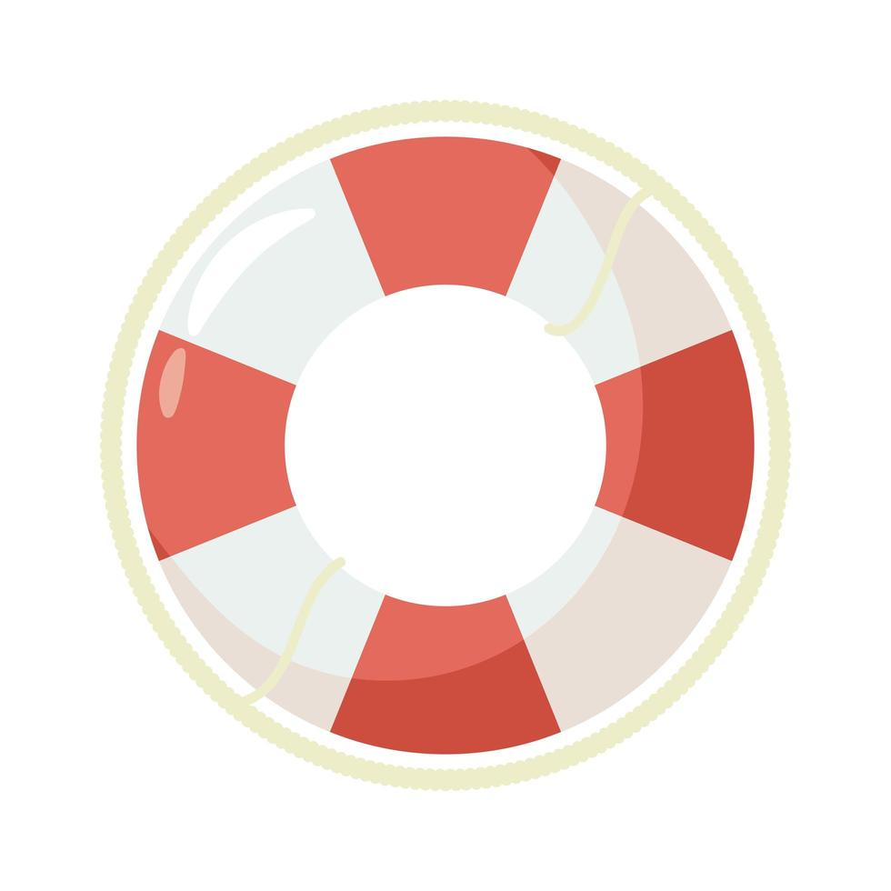 ícone de estilo plano de bóia salva-vidas vetor
