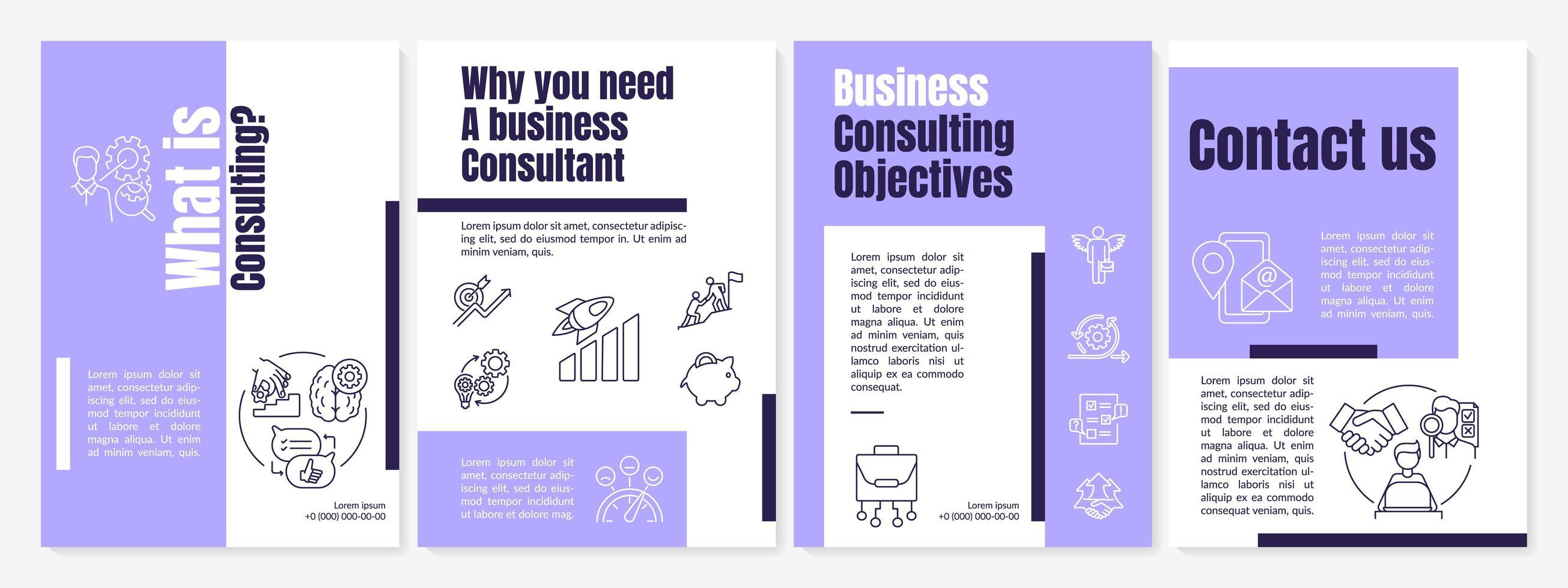 modelo de folheto de tarefas de consultoria de negócios vetor