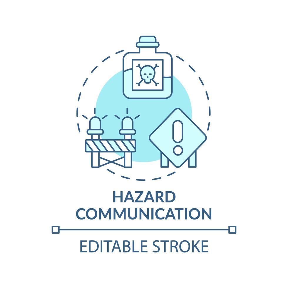 ícone do conceito de comunicação de perigo vetor