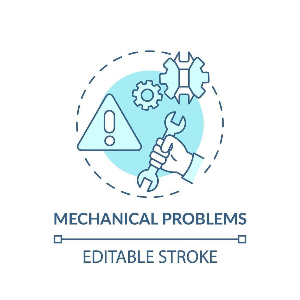 ícone do conceito de problemas mecânicos vetor
