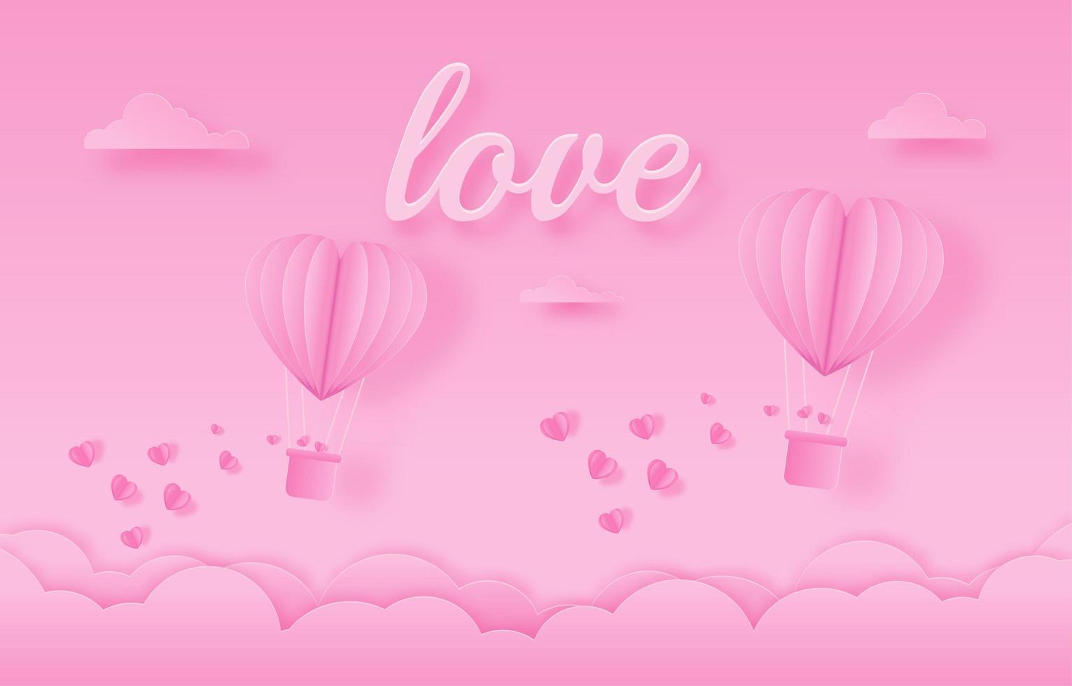 cartão de convite de amor coração de balão do dia dos namorados em fundo abstrato vetor