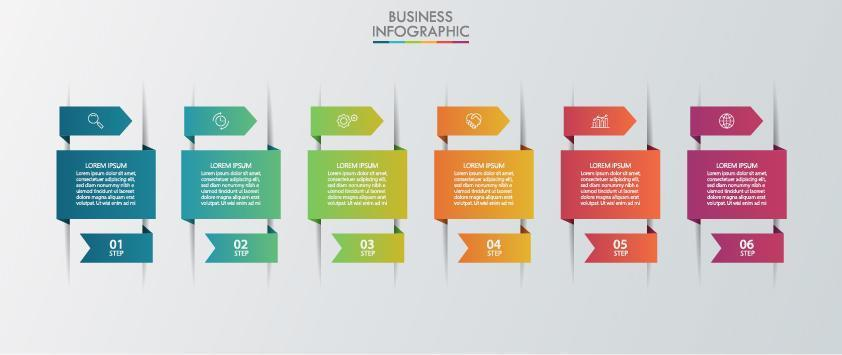 modelo de escolha de infográfico de papel vetor