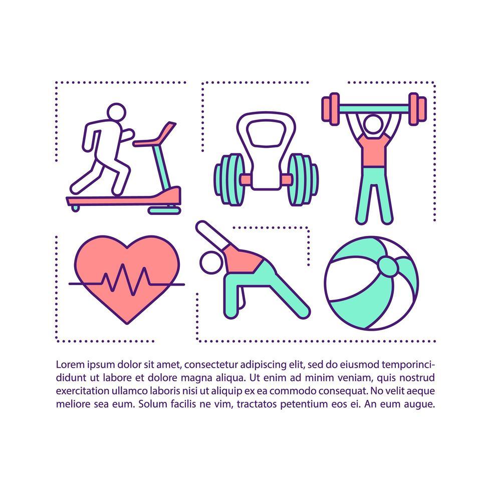 equilibrar ícone do conceito de treinamento com texto vetor