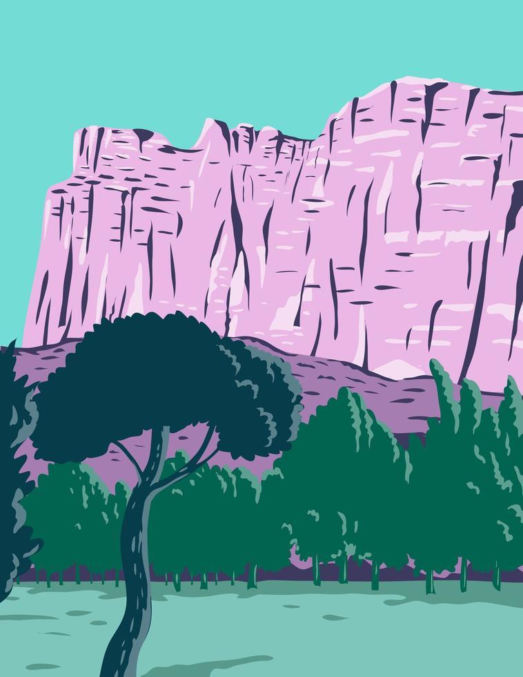 parque nacional de recife de capitólio em torrey utah estados unidos vetor