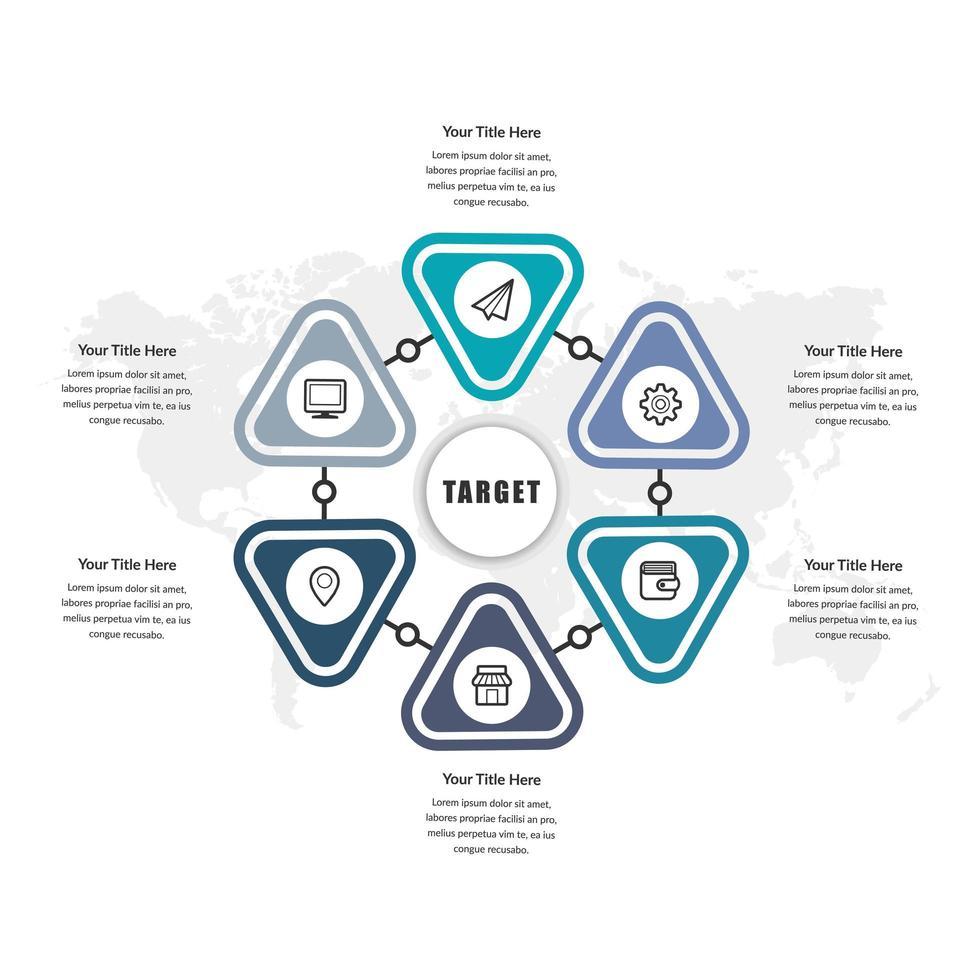 infográfico de negócios design de vetor de elemento