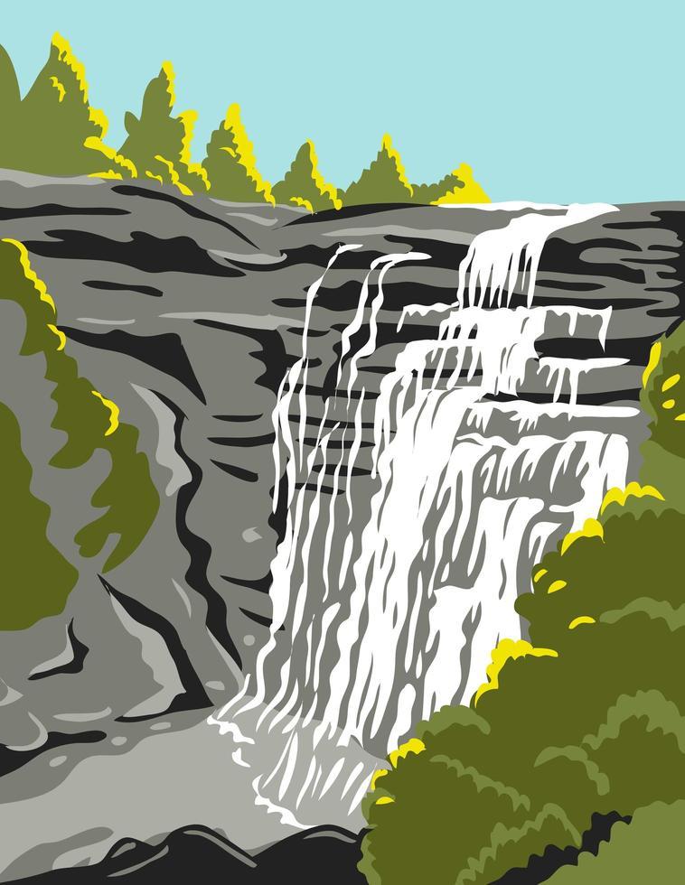 parque nacional do vale cuyahoga ao longo do rio cuyahoga vetor