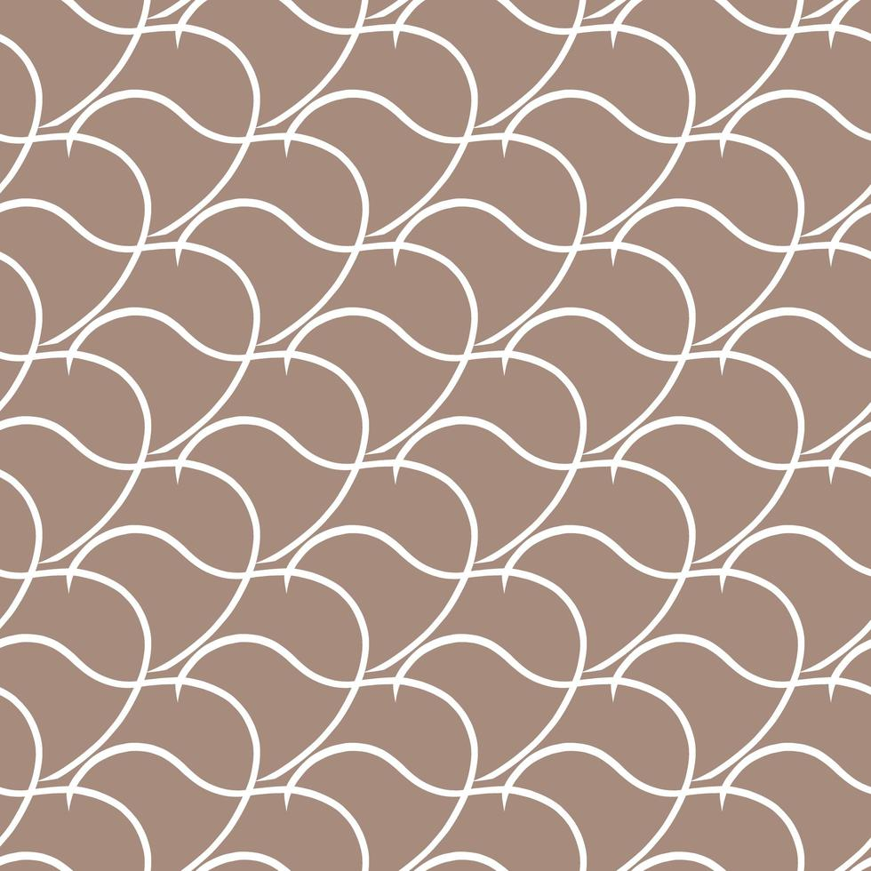 padrão de fundo de textura sem emenda do vetor. mão desenhada, cores marrons e brancas. vetor