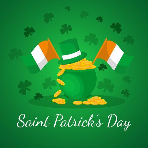 St Patrick Day Background vetor