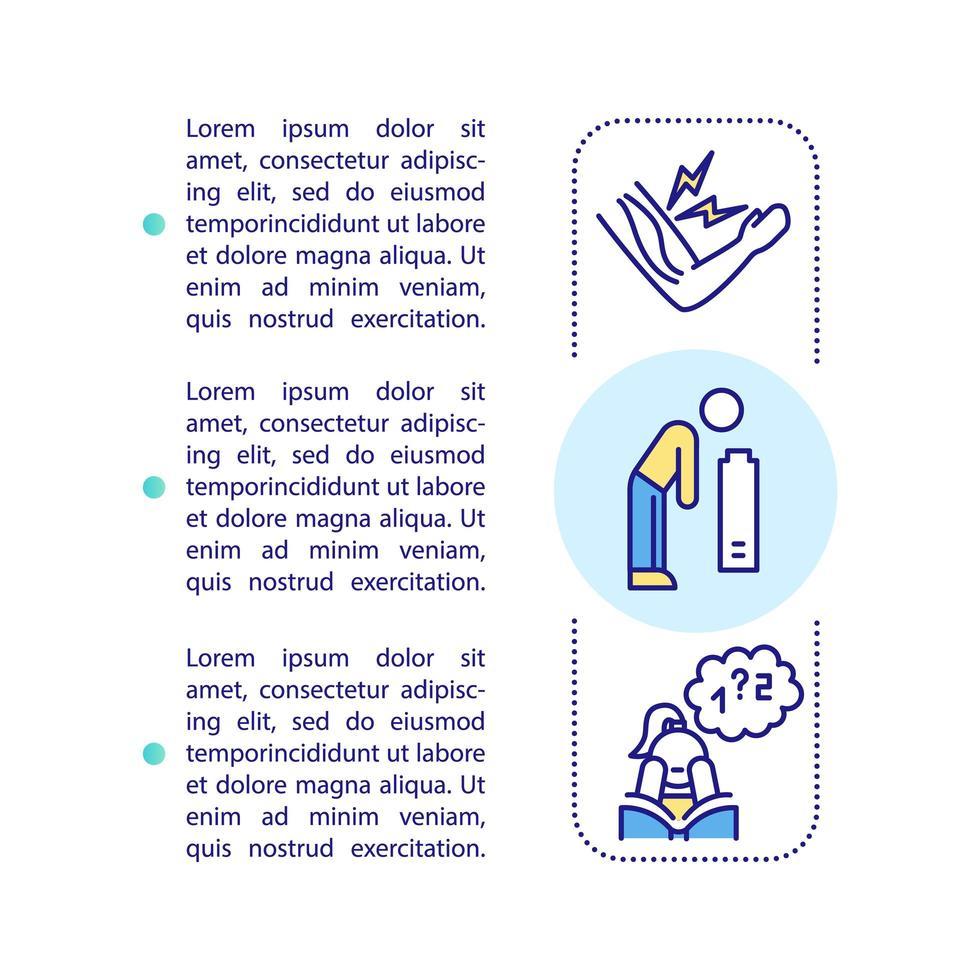 Ícone de conceito de sintomas cfs com texto vetor