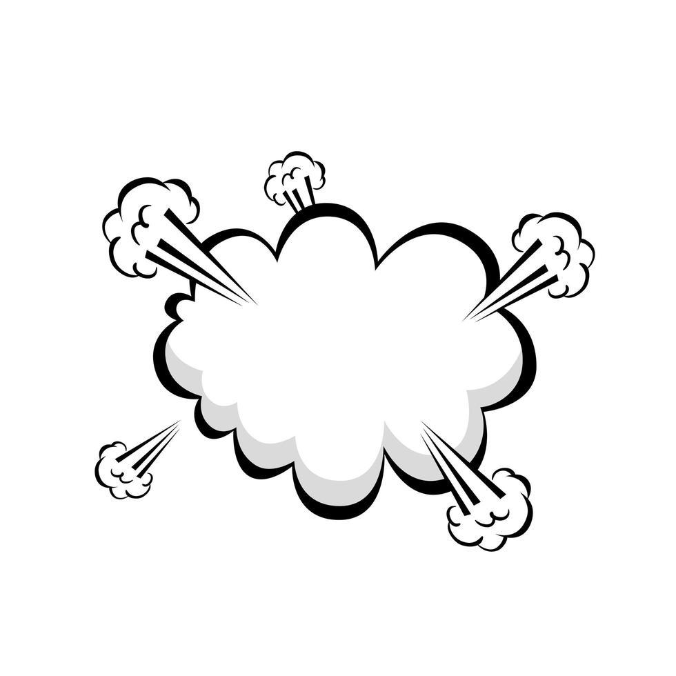 ícone de estilo pop art de explosão de nuvem vetor