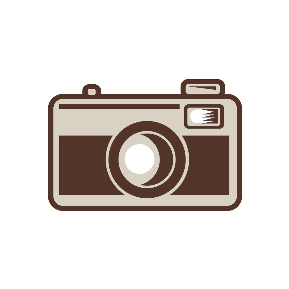 retro câmera de filme 35mm vintage vetor