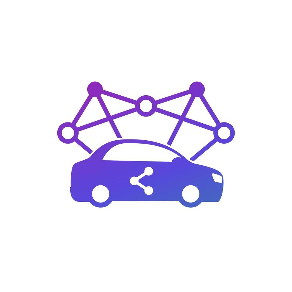 ícone de carsharing para web e aplicativos, vetor