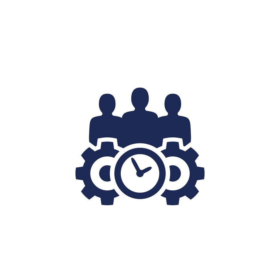 ícone de gerenciamento em branco, vetor