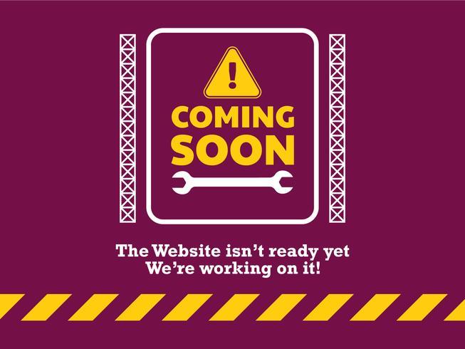 Página de destino do site em breve vetor