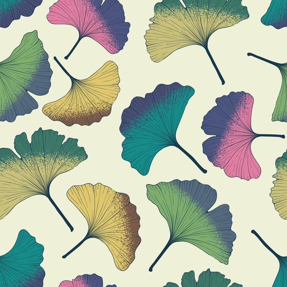 padrão de folhas de ginkgo. vetor