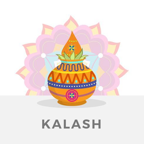 Ilustração plana do vetor de Kalash