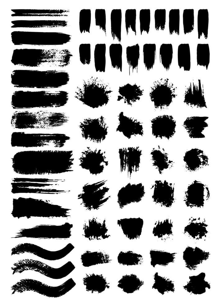 conjunto de ilustrações vetoriais de rabiscos e manchas vetor