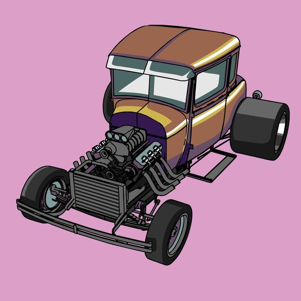 ilustração de um carro retrô vetor